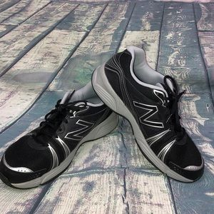 New Balance Men's Sneakers 12 Black and Silver